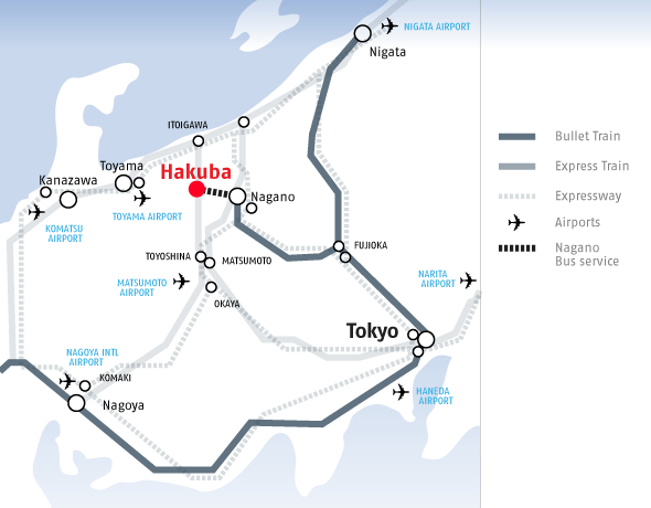Getting to Hakuba, Japan